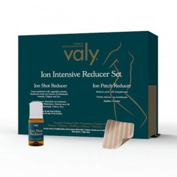 Valy Ion Intense Reducer Set 28 Viales de 10ml Sabor Cítrico + 56 Parches Tratamiento Mensual Reduce Restaura Reafirma.