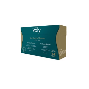 Valy Ion Booster Slimmer Tratamiento Mensual de Botanical Slimmer 84 Sticks Sabor Cacao + Ion Patch Reducer 56 Parches