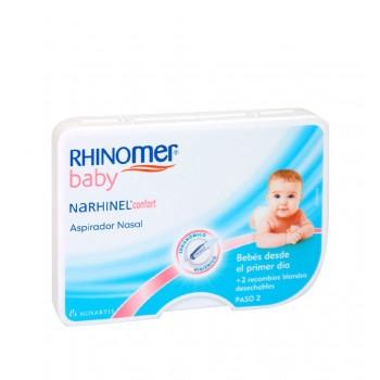 Rhinomer Baby Narhinel Confort Aspirador Nasal Bebés Desde el Primer Día + 2 Recambios Desechables