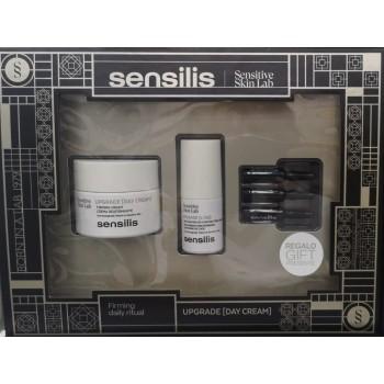 Sensilis Cofre Upgrade Crema Día Reafirmante 50ml + Contorno de Ojos 15 ml y 3 Ampollas de Regalo