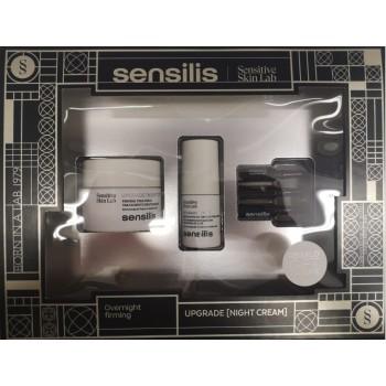 Sensilis Cofre Upgrade Crema Noche Reafirmante 50ml + Contorno de Ojos 15ml y 3 Ampollas de Regalo