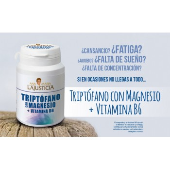 Triptófano con Magnesio y Vitamina B6 Ana María LaJusticia. 60 Comprimidos