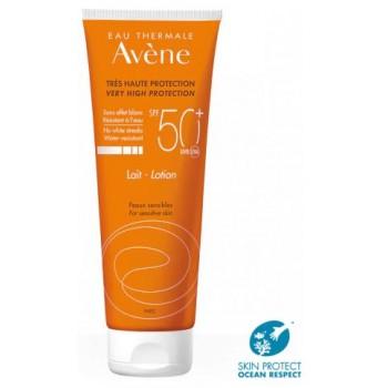 Avene Leche Solar SPF50+ Sin Efecto Blanco Pieles Sensibles 100ml