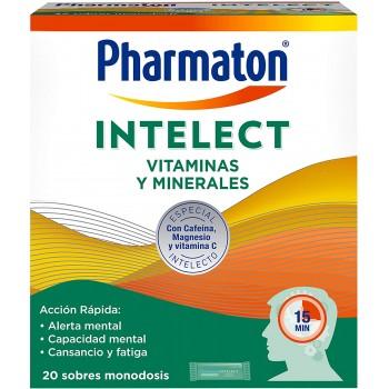 Pharmaton Intelect VItaminas y Minerales 20 Sobres Monodosis Sabor Naranja.