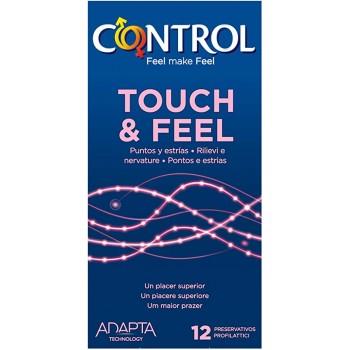 Control Preservativos Touch & Feel Puntos y Estrías 12 Unidades