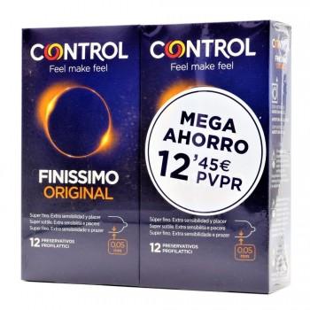 Control Preservativos Finissimo Original Pack 12+12 Unidades