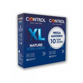 Control Preservativos Nature XL Xtra Large Pack 12+12 Unidades