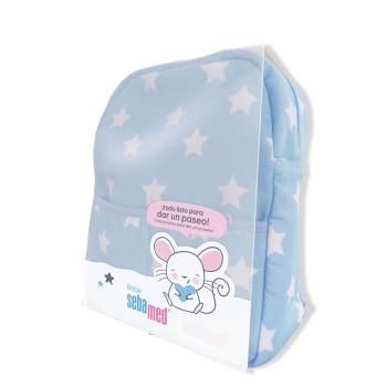 SebaMed Mochila Azul + 5 Productos Para el Cuidado del Bebé