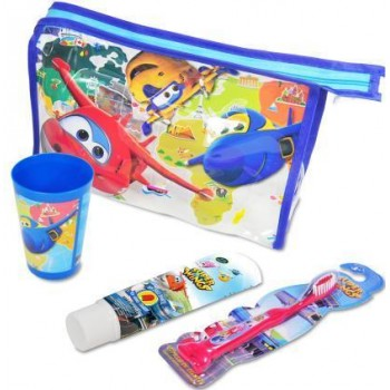Super Wings 3-6 Años Pasta Dentífrica 50ml + Cepillo Dental + Vaso + Neceser de Regalo