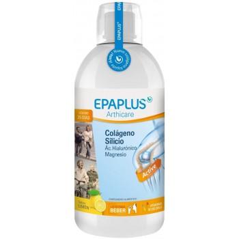 Epaplus Arthicare Colágeno + Silicio + Ácido Hialurónico + Mágnesio Listo Para Beber Sabor Limón 1L