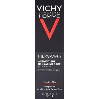 Vichy Homme Hydra Mag C+ Hidratante Anti Fatiga Cara y Ojos Piel Sensible 50ml