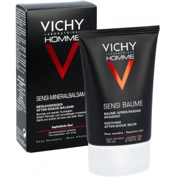 Vichy Homme Sensi Baume Bálsamo After-Shave Calmante Piel Sensible 75ml