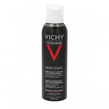 Vichy Homme Sensi Shave Espuma de Afeitar Anti-Irritaciones Piel Sensible 200ml