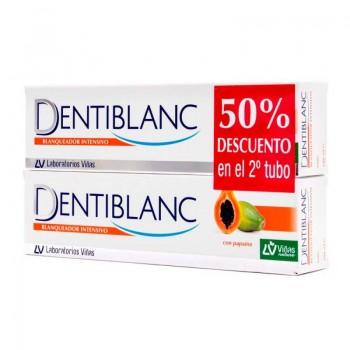 Dentiblanc Pasta Dentífrica Blanqueador Intensivo con Papaína Duplo 2x100ml