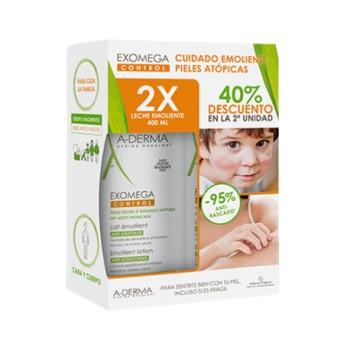 A-Derma Exomega Control Anti-Rascado Leche Emoliente Pack 2x400 ml