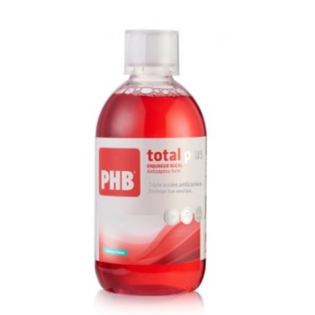 PHB Total Plus Colutorio Antiséptico Sabor Menta Fresca 500ml