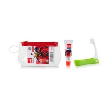 PHB Junior +6 Años Ladybug Neceser + Cepillo Dental Plegable + Pasta 15ml