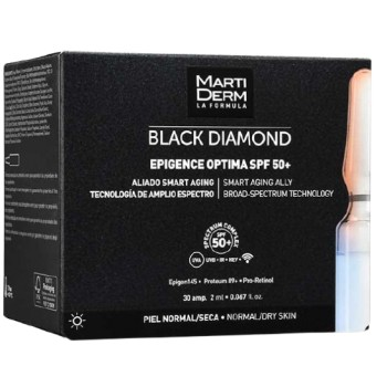 Martiderm Black Diamond Epigence Optima SPF 50+ Piel Normal Seca 30 Ampollas