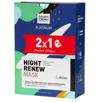 Martiderm Platinum Night Renew Mask Pack 2x5 Unidades