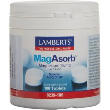 Lamberts MagAsorb Citrato de Magnesio 150 mg 180 Comprimidos