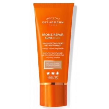 Esthederm Bronz Repair Sunkissed Crema Solar Antiarrugas y Reafirmante con Color Natural Sol Fuerte 50ml