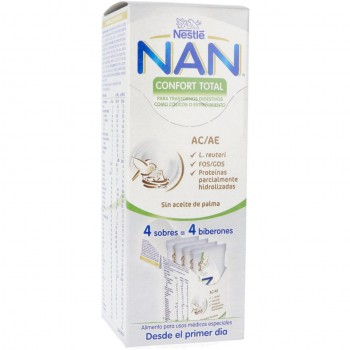 Nan Confort Total A/C A/E 4 Sobres - 4 Biberones