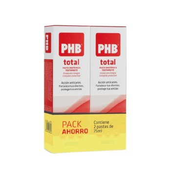 PHB Total Pasta Dentífrica Pack Duplo Ahorro 2x75 ml