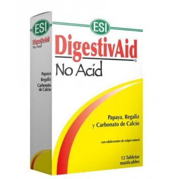 DigestivAid No Acid Complemento Alimenticio 12 Tabletas Masticables ESI