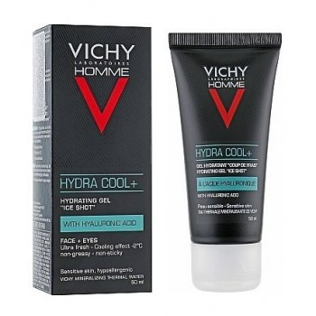 Vichy Homme Hydra Cool+ Gel Hidratante Cara y Ojos 50ml