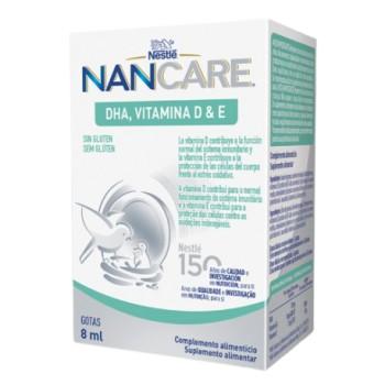 NanCare DHA Vitamina D & E Sin Gluten Gotas 8ml