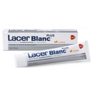 Lacer Blanc Plus Pasta Dentífrica Blanqueadora Con Flúor Uso Diario Sabor Cítrus 125ml