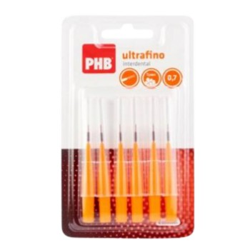 PHB Cepillo Interdental Recto Ultrafino 0,7 Naranja 6 Unidades