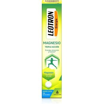 Leotron Vitalidad Magnesio Triple Acción Energía Músculos y Huesos Sabor Limón 15 Comprimidos Efervescentes