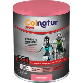 Colnatur Sport Colágeno Natural Asimilable Puro con Magnesio Sabor Fresa 351gr