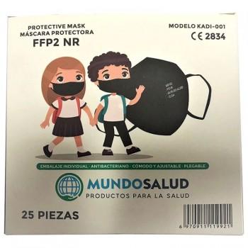 Mascarilla Infantil FFP2 CE2834 Modelo KADI-001 Color Negro 25 Unidades