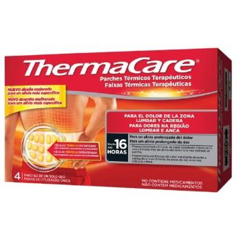 Thermacare Parches Térmicos Terapeúticos para el Dolor Lumbar y Cadera Hasta 16 Horas 4 Parches