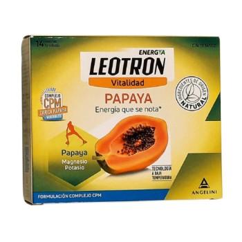 Leotron Vitalidad Papaya Magnesio y Potasio 14 Sobres Unidosis