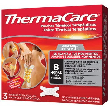 Thermacare Parches Térmicos Terapéuticos Adaptable a Tus Movimientos 8Horas de Calor 3 Parches