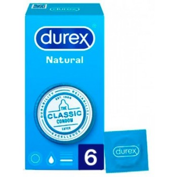Durex Preservativos Natural 6 Unidades