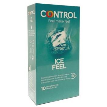 Control Preservativos Ice Feel Escalofrío Placentero Aroma Menta 10 Unidades