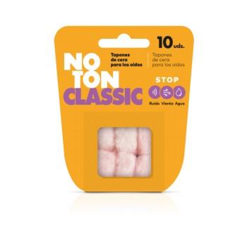 NoTon Classic Tapones de Cera para los Oídos Stop Ruido Viento y Agua 10 Unidades