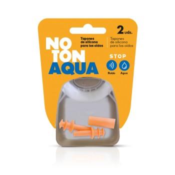 NoTon Aqua Tapones de Silicona para los Oídos Stop Ruido y Agua 2 Unidades