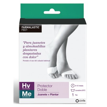 Farmalastic Protector Doble Juanete + Plantar Talla Mediana 39-41 1 Par