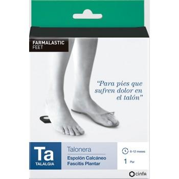 Farmalastic Talonera Espolón Calcáneo Fascitis Plantar Talla Grande 1 Par