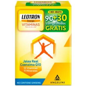 Leotron Vitalidad Jalea Real Coenzima Q10 12 Vitaminas 11 Minerales 90 + 30 Cápsulas Gratis