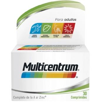 Multicentrum Multivitamínico y Multimineral de la A al Zinc +12 Años 30 Comprimidos