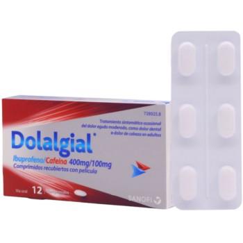 Dolalgial Ibuprofeno/Cafeína 400mg/100mg 12 Comprimidos Recubiertos