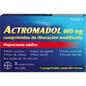 Actromadol 660mg 8 Comprimidos