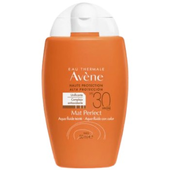 Avéne Solar Aqua-Fluido Mat Perfect SPF30 con Color Pieles Mixtas y Grasas 50ml