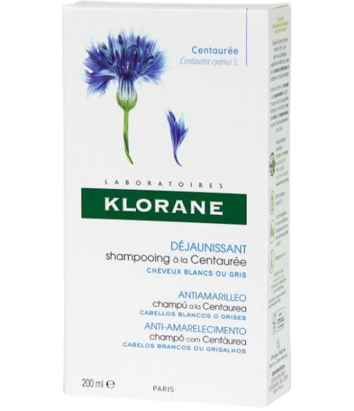 KLORANE CHAMPU CENTAUREA 200ML C/GRISES